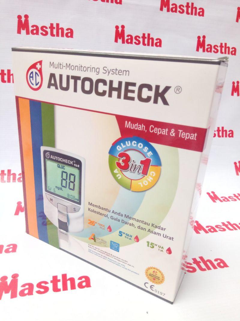Alat Cek Up Dan Strip Auto Check 3 In 1 Gula Darah Diabetes Autocheck Gcu Asam Urat Kolesterol Toko